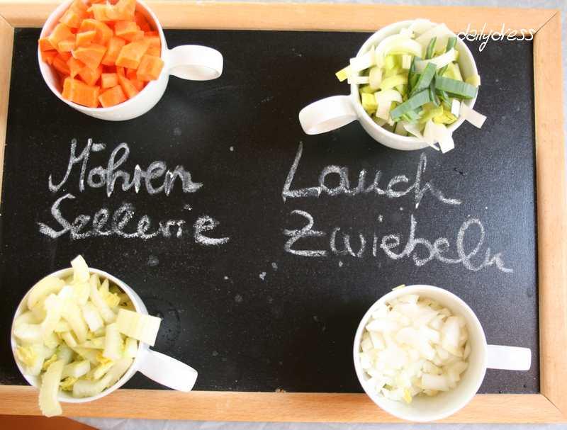 Vier Gemüsesorten