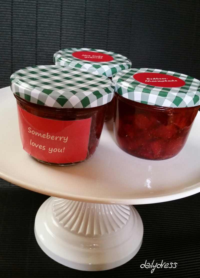 Die fertige Marmelade