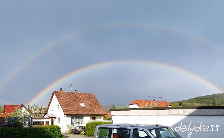 Der Regenbogen war wunderschön