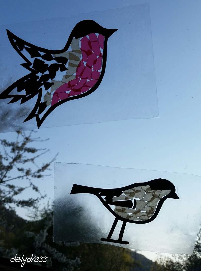 Herr und Frau Dompfaff zieren unser Fenster