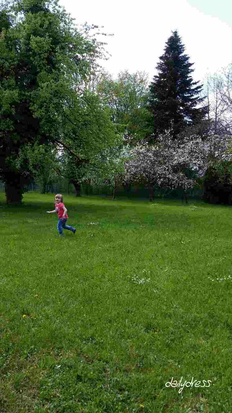 Unser Garten lädt zum Toben ein