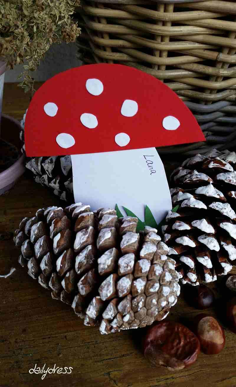 Bei den kleinen Gästen kamen unsere Fliegenpilz-Einladungen gut an