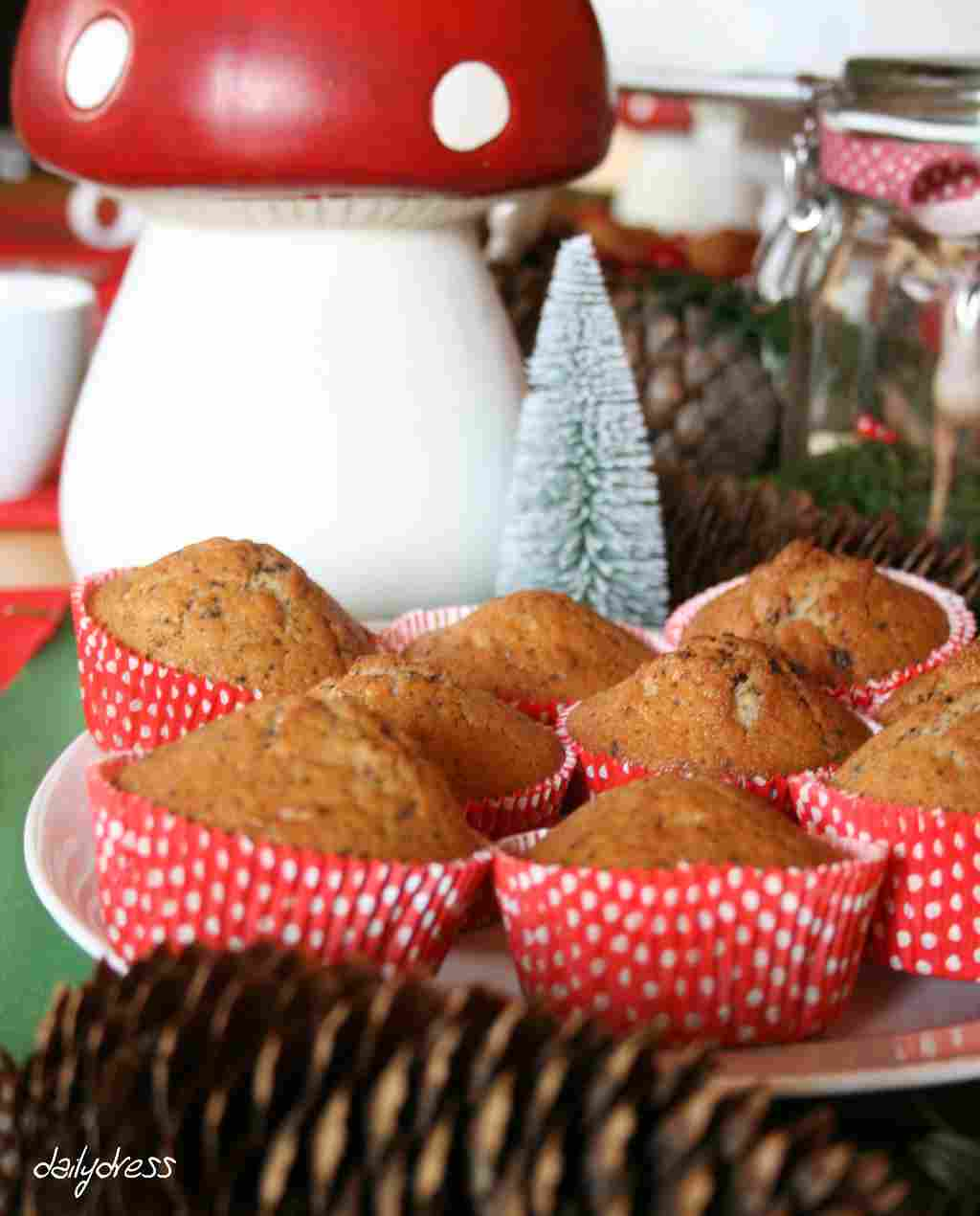 Auch die Muffinförmchen haben sich perfekt ins Thema Fliegenpilz eingefügt.