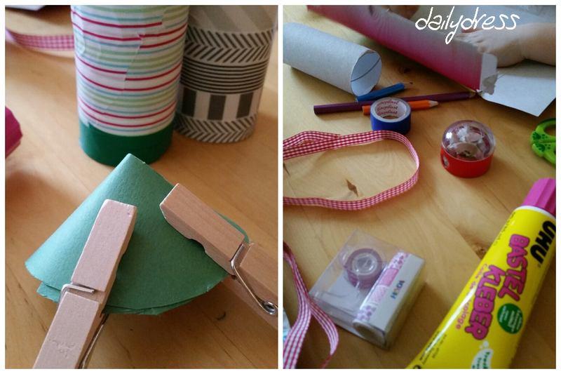 Beim basteln hilfreich - Wäscheklammern, die Stücke zusammenhalten, bis der Kleber getrocknet ist.